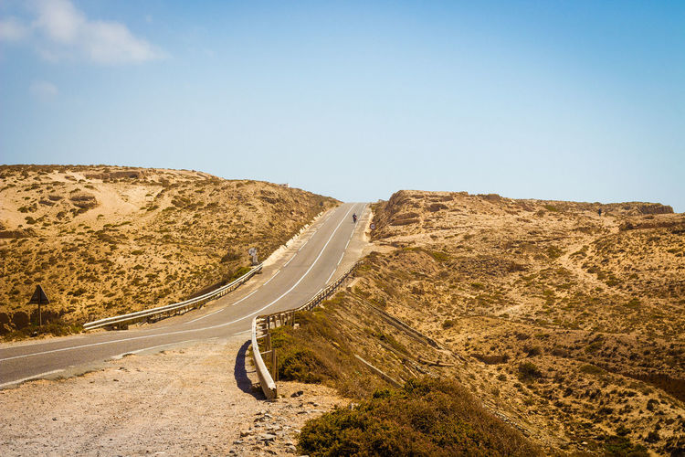 Marokko Landscape Sky Road Transportation Environment Nature Clear Sky No People Tranquility Scenics - Nature Beauty In Nature Mountain Arid Climate Copy Space Empty Road Outdoors Mountain Road Non-urban Scene Day Landscape Tranquil Scene Climate The Way Forward Direction