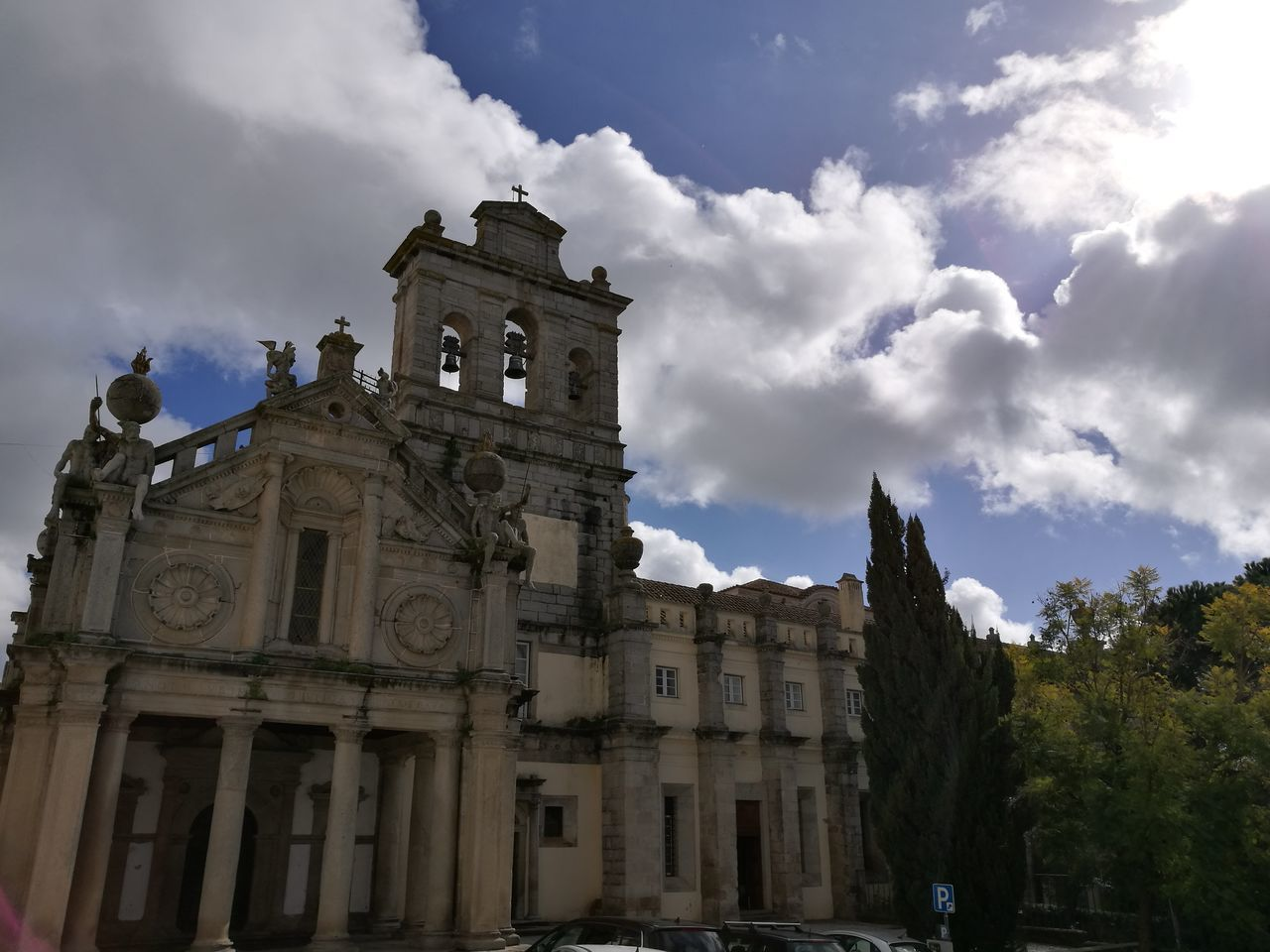 architecture, building exterior, sky, built structure, cloud - sky, history, outdoors, low angle view, religion, day, spirituality, no people
