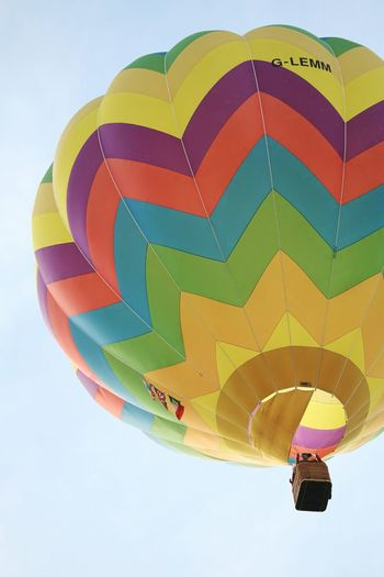 Multi Colored Hot Air Balloon Outdoors Sky No People Balloon Sun Happines Air Sunny Day Hot Air Balloon Festival Mongolfiera  Happy Colors Day Italy Ferrara Balloons Festival