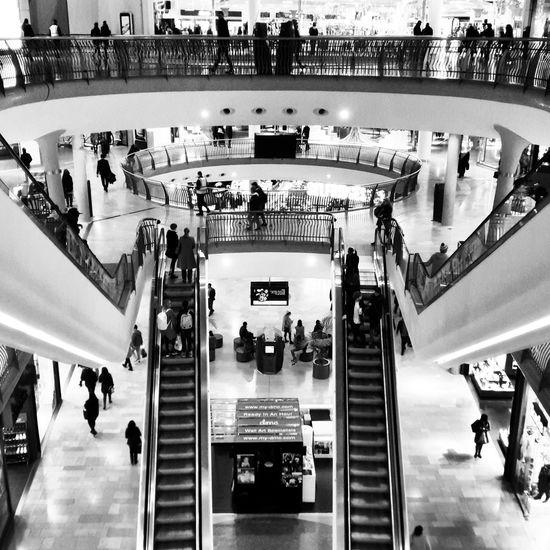 Bullring Birmingham Birminghambullring Escalator Blackandwhite
