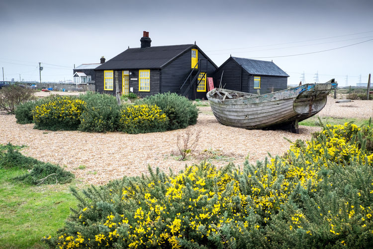 Derek Jarman's Cottage Desert Dungeness Kent Beauty In Nature Built Structure House Outdoors Wooden Cottage Wrecked Boat