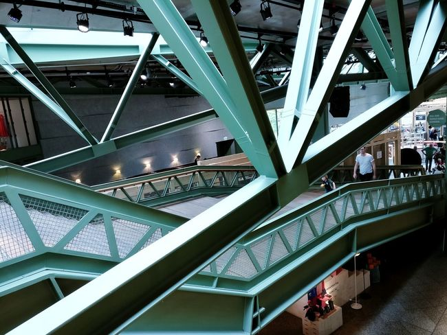 Architecture Built Structure Indoors  Ceiling Steps And Staircases Low Angle View Day People City Cityphotography Streetphotography Architecturephotography Architecturelovers Berlincity Simplicity Urbanphotography Simple Modern Modern Architecture Modernarchitecture Modernarchitect