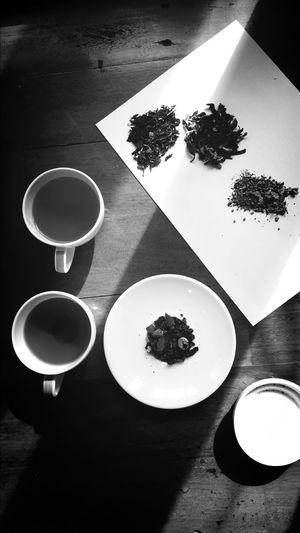 Testing loose tea.
