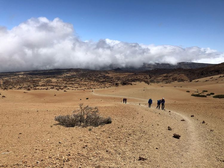 Teide National Park, Tenerife 🇪🇸 Nofilter Hiking Rock - Object Cloud - Sky Clouds Mount Teide Volcano Teide Teide National Park Mountain Tenerife SPAIN Hiking Sky Land Cloud - Sky Nature Real People Sand Landscape Tranquil Scene Beauty In Nature Scenics - Nature Tranquility Lifestyles Leisure Activity
