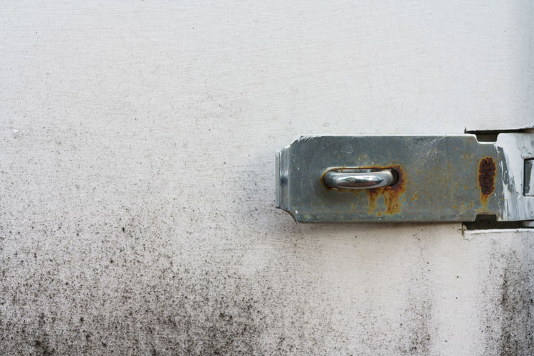 Close-up of rusty metal on wall