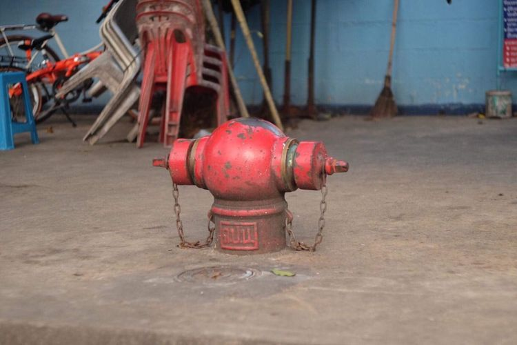 Water Dispenser Fire Hydrant Metal No People Day Red Safety Protection