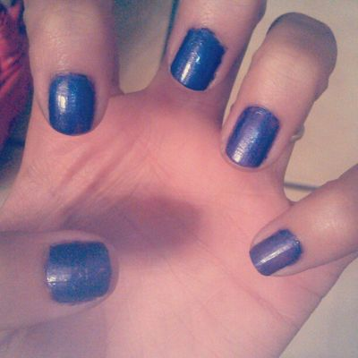 I polish my nails every week. Nojoke Plain Purple