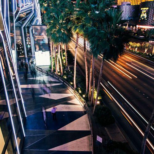 View of illuminated city