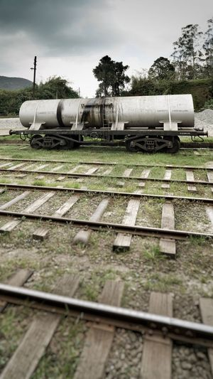 Railroad Track Rail Transportation Track No People Transportation Nature Mode Of Transportation Plant Tree Day Sky Train Metal Outdoors Train - Vehicle Business Land Travel Container Grass