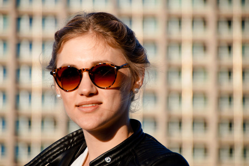 Beautiful Woman Close-up Day Eyeglasses  Eyewear Focus On Foreground Glasses Headshot Lifestyles Looking At Camera One Person Outdoors People Portrait Real People Smiling Sunglasses The Portraitist - 2017 EyeEm Awards Young Adult Young Women