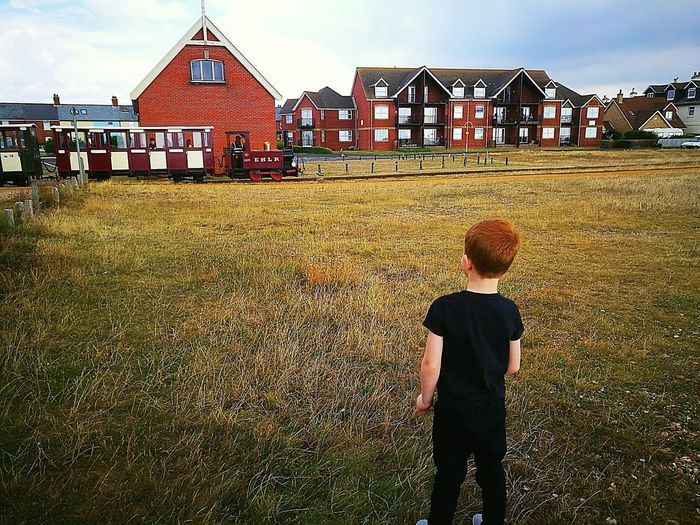 Steam Locomotive Train Boy MySON♥ Ginger Ginger Boy Field Child Built Structure Traintracks Outdoors Standing Childhood Photography Photooftheday Mobilephotography HuaweiP9 Days Out Movement Hayling Island  Beachphotography England 🌹 Newbie ♥