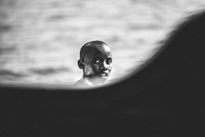 The Boy Off the Boat. Kenya Boys Close-up Day Fisherman Kilifi Mombasa Water Black And White Friday Be. Ready.