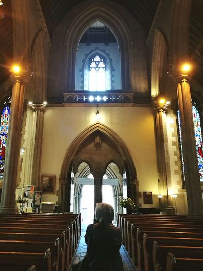Religion Arch Spirituality Tranquility Pew Church Cathedral Scotland Dundee HuaweiP9