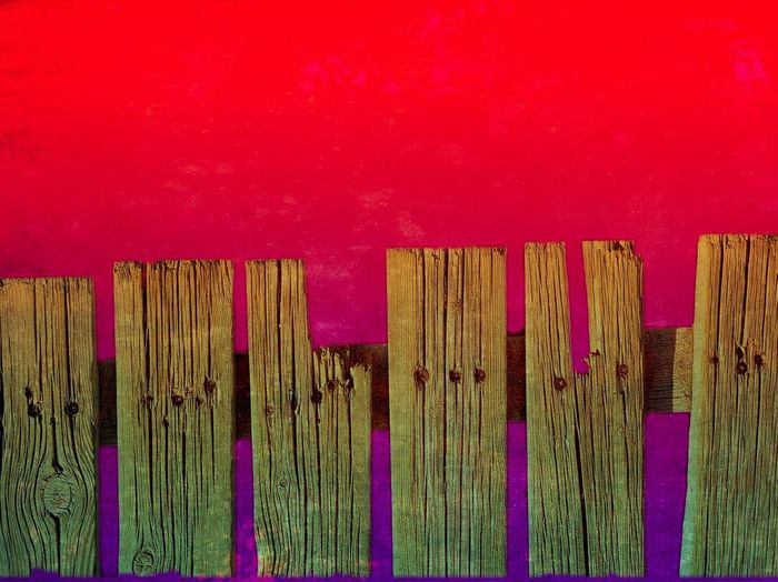 Wood - Material No People Wall - Building Feature Red Pink Color Multi Colored Architecture Pattern Day Built Structure Indoors  Boundary Close-up Barrier Fence Full Frame Side By Side Backgrounds Security 17.62°