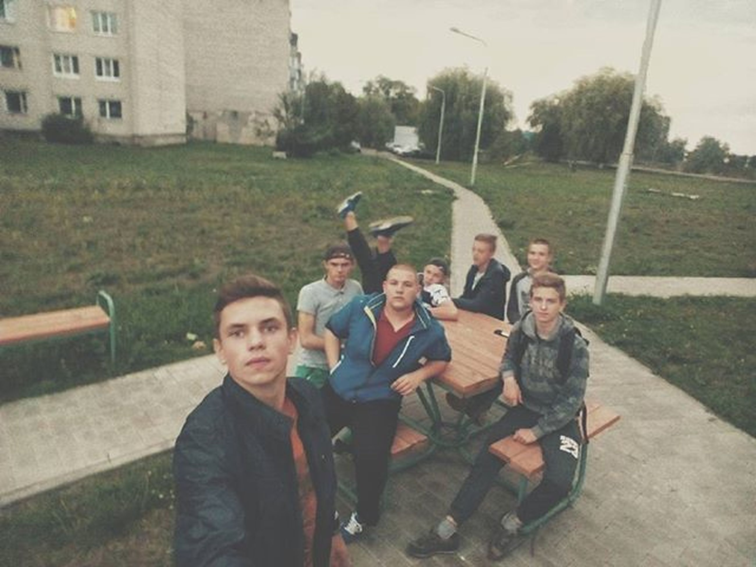 lifestyles, person, leisure activity, togetherness, smiling, bonding, casual clothing, looking at camera, portrait, happiness, young men, young adult, love, boys, front view, friendship, childhood