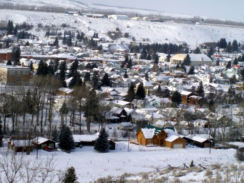 Aerial View Architecture Built Structure City Cityscape Cold Temperature Covering Day Landscape Montana Mountain Nature No People Outdoors Red Lodge, Montana Residential Building Residential District Residential Structure Scenics Season  Snow Snowcapped Town Weather Winter