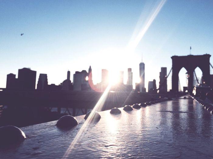 Built Structure Architecture Sunlight Skyscraper Tourism Sky Brooklyn Bridge / New York New York City Skyline Fade EyeEmNewHere