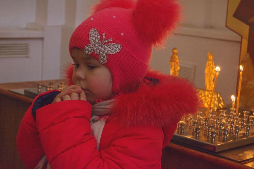 Portrait Girl Portrait Girl Power Pray Emotions From My Point Of View By Ivan Maximov Lifestyle Beauty Vitebsk,Belarus The Week On EyeEm Eyeem Photo Church Candles Candles Light Relaxing One Person Religion Christmas Red Spirituality Indoors  People Headshot Gold Colored Adult Close-up Children Only Day