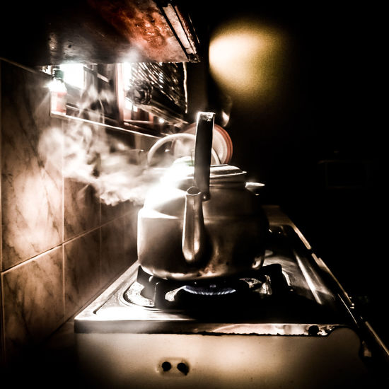 Showcase: January Tea Time Tea Dodge And Burn Light And Shadow Kettle Kitchen Hot Smoke Steam Water XPERIA Steel Home