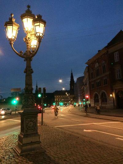 Architecture Copenhagen, Denmark Marmeid Night Outdoors Sky Statue Street