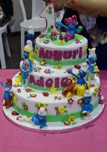 The desserts I make @solozuccheriacolazione.altervista.org Desserts Fondant Cake Birthday Cake The Smurfs