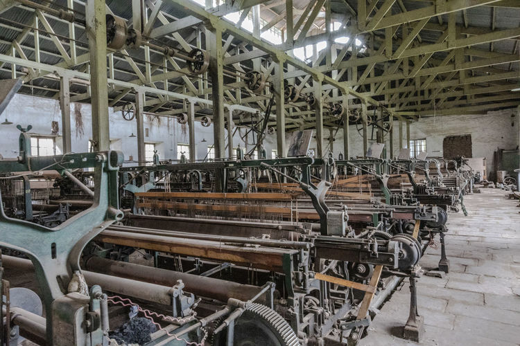 Interior of abandoned factory