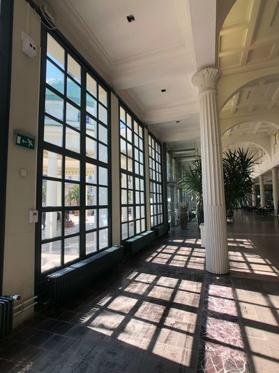 Bad Pyrmont Architecture Window Built Structure Day Indoors  Sunlight No People Building Ceiling Architectural Column Shadow Nature Glass - Material Flooring The Past History Abandoned Corridor Arcade