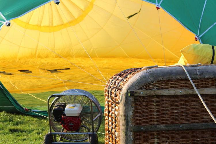 Hot air balloon on land