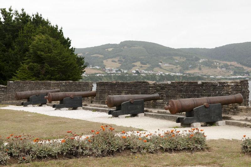 Fort San Antonio - Chiloe Island - Chile Cannons Chile San Antonio Battery Built Structure Cannon Chilöe Fort War Weapon