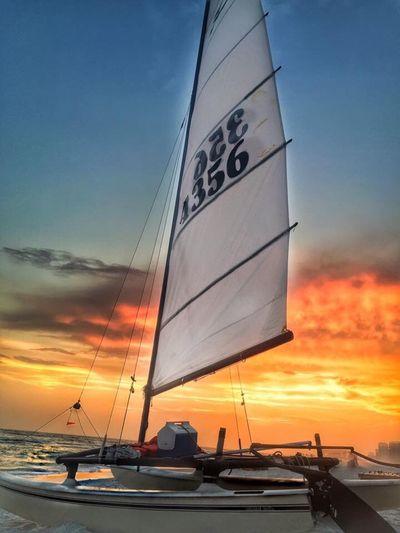 Sailboat at sunset Sailboat Sunset Beach Life 43 Golden Moments