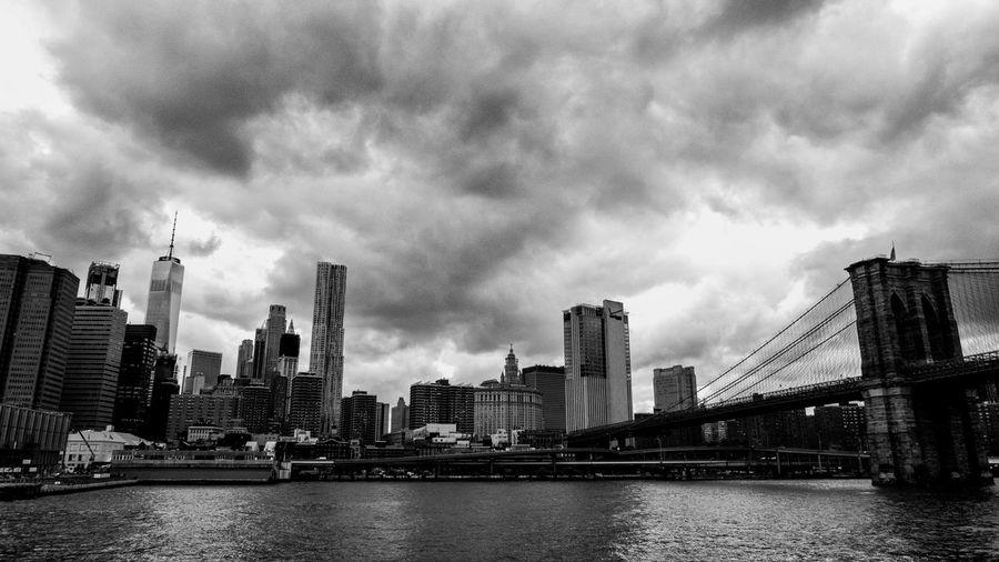 Architecture Bridge Brooklyn Bridge / New York Built Structure City Cityscape Modern New York Skyscraper Travel Destinations Urban Skyline
