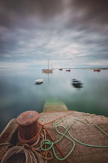 Ghost Harbour Northumberland Holy Island The Great Outdoors - 2016 EyeEm Awards Sea And Sky Sea View Harbour Long Exposure Seascape Longexposure Sea And Clouds Boats Harbour View Great Britain Long Exposure Shot Seaside Sea Harbor Boats And Water Board In The Harbour Original Experiences Fine Art Photography Adventure Club