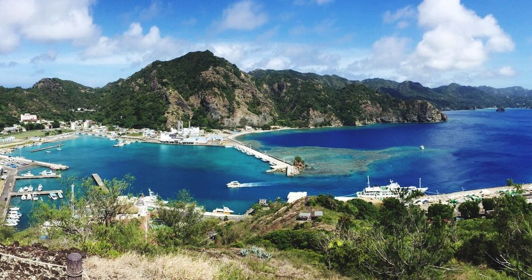 Tokyo,Japan Chichijima Marina Blue Sea Nature Ogasawara Island
