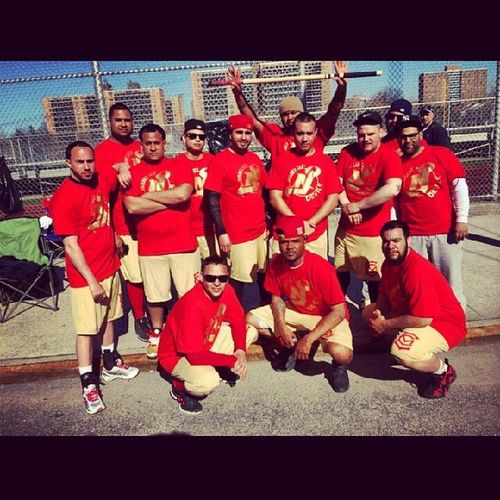 """""""We could either be the laughing stock of the league or make a name for ourselves."""" Great job today fellas...looks like something to forward to for the years to come Jerseycitydevils Newjersey Stickball Stickballblvd bronx family"""