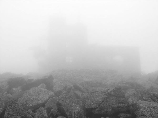 View from the top? New Hampshire Mt Washington Hiking Blackandwhite Top Of The Mountain Worst Recorded Weather Cloudy In The Clouds Fog Are We There Yet?  The Great Outdoors - 2015 EyeEm Awards The Secret Spaces