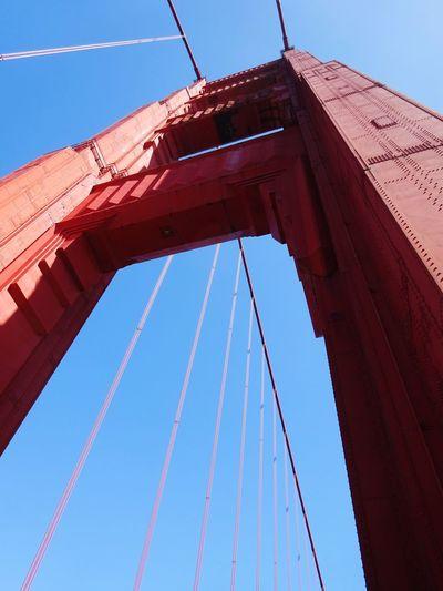 long way up. EyeEm Selects Red Blue Washing Sky Close-up
