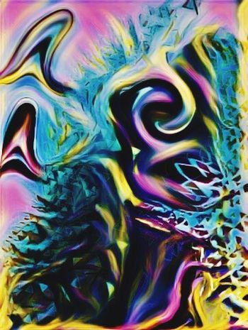 The Face of sadness Multi Colored Abstract Vibrant Color Iphoneart Shootermag AMPt_community Abstractart Abstractions In Colors