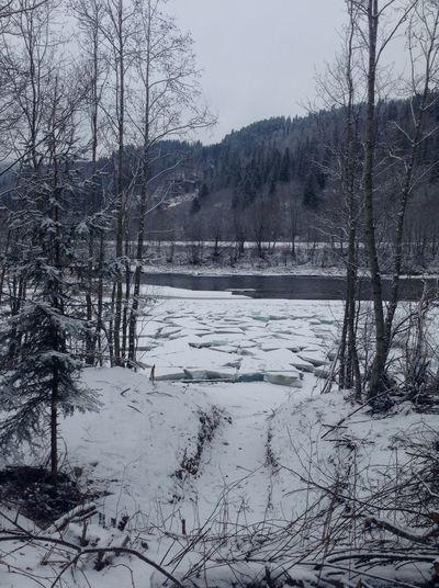 Ice is breaking. Ice Winter River Norway