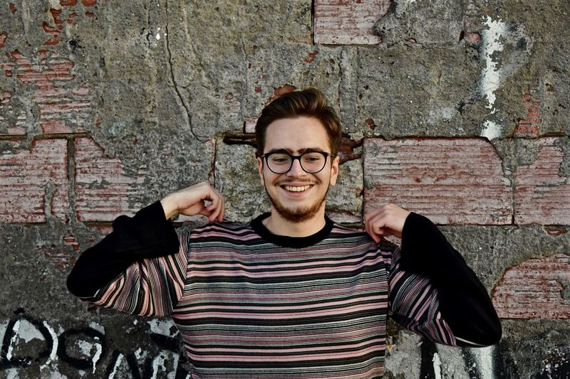 Casual Flex. Glasses Portrait Looking At Camera One Person Front View Smiling Happiness Young Adult Casual Clothing Positive Emotion Fashion Standing Lifestyles Real People