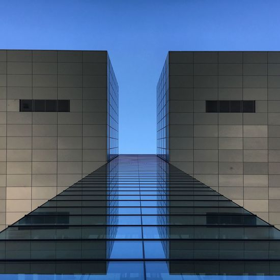 Architecture Built Structure Building Exterior Low Angle View Modern Reflection Blue City Cologne Köln Architecture Architecture_collection