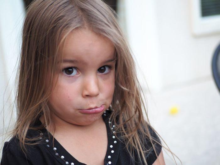Child Portrait Childhood Blond Hair Girls Headshot Looking At Camera Long Hair Close-up