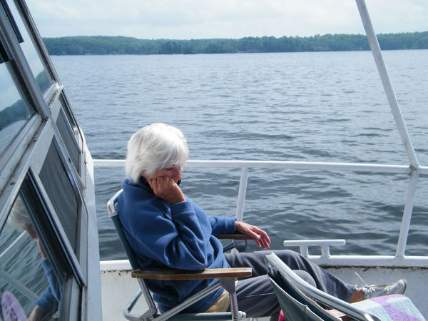 Quiet comfort Cruise Day Just Relaxing... Leisure Activity Nautical Vessel Senior Women Sitting Transportation Water