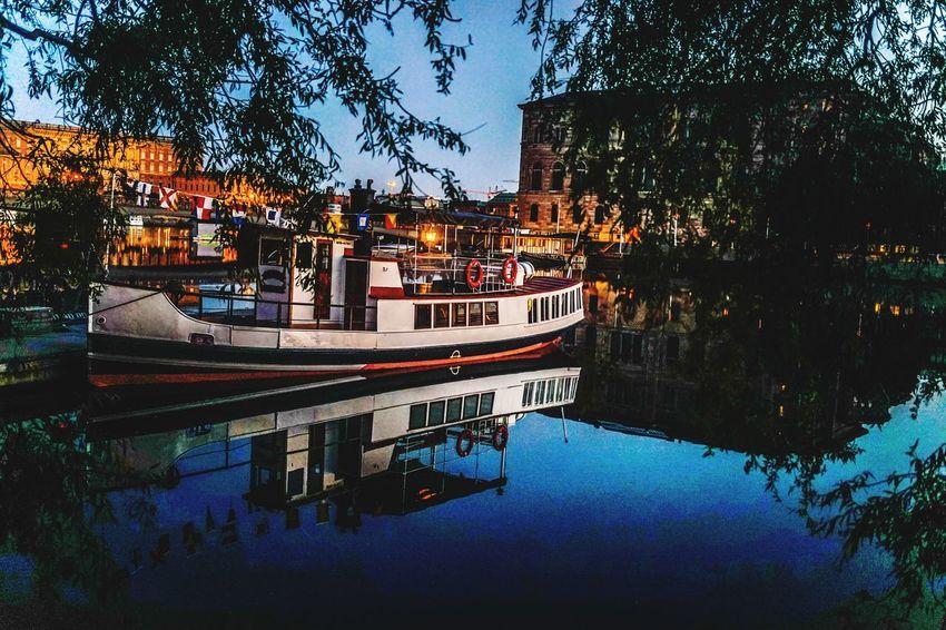 Sweden Stockholm Water Reflections