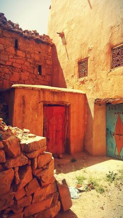 Morocco Architecture Sousse Tafraout Idaougnidif Warm Colors Windows And Doors Color Photography Stone