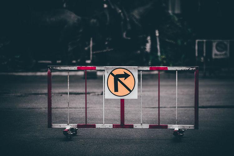 Road sign at roadside