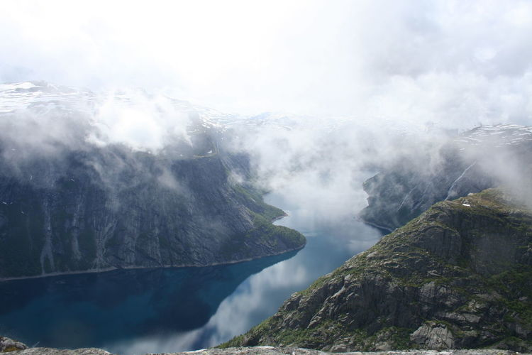 Hiking Nature Norway Beauty In Nature Day Environment Mountain Nature No People Non-urban Scene Norwat Norway Nature Outdoors Scenics - Nature Sky Tranquil Scene Tranquility Trolltunga Water