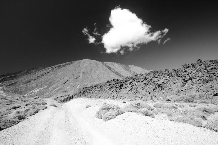 Teide National Park Beauty In Nature Cloud - Sky Day Environment Geology Idyllic Land Landscape Mountain Mountain Peak Nature No People Non-urban Scene Outdoors Physical Geography Power In Nature Scenics - Nature Sky Smoke - Physical Structure Tenerife Tranquil Scene Tranquility Volcanic Crater Volcano