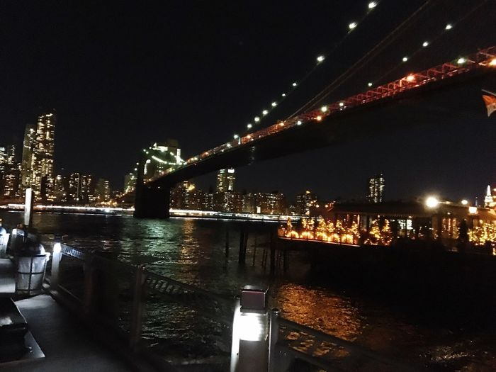 Cities At Night Brooklyn Bridge / New York River Cafe