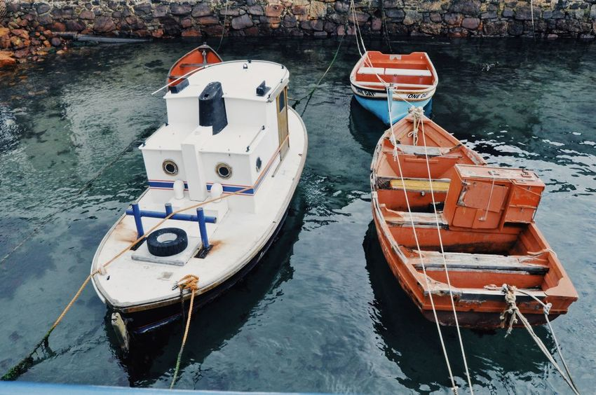 Cape Town South Africa Boat Day Fishing Fishing Boat Fishing Vessel High Angle View Lake Mode Of Transport Moored Nature Nautical Vessel No People Outdoors Transportation Tugboat Water White Boat