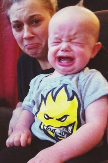 My Nephew <3 Poor Baby Not Happy Taking Photos